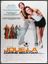 5j118 BEND IT LIKE BECKHAM French 1p 2003 Keira Knightley & Parminder Nagra, soccer!