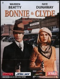 5j164 BONNIE & CLYDE French 1p R2000 different close up of Warren Beatty & Faye Dunaway with guns!