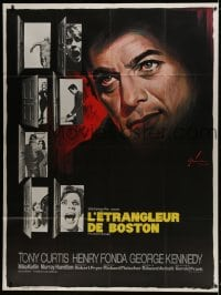 5j168 BOSTON STRANGLER French 1p 1968 best different Boris Grinsson art of Tony Curtis & victims!