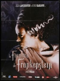 5j172 BRIDE OF FRANKENSTEIN French 1p R2008 super close up of Elsa Lanchester in the title role!