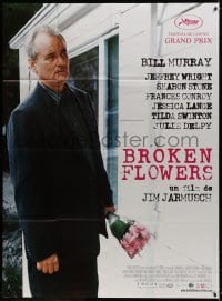 5j175 BROKEN FLOWERS French 1p 2005 Jim Jarmusch, different c/u of Bill Murray holding flowers!