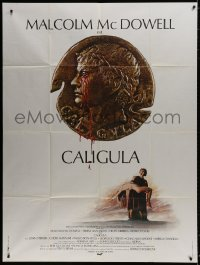 5j187 CALIGULA French 1p 1980 Malcolm McDowell, Penthouse's Bob Guccione sex epic!