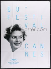 5j193 CANNES FILM FESTIVAL 2015 French 1p 2015 great headshot of Ingrid Bergman by David Seymour!