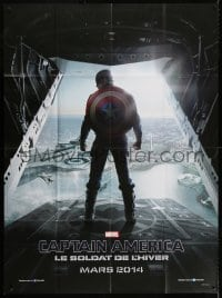 5j201 CAPTAIN AMERICA: THE WINTER SOLDIER teaser French 1p 2014 Chris Evans over Washington DC!