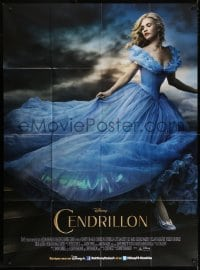 5j226 CINDERELLA French 1p 2015 great image of pretty Lily James, directed by Kenneth Branagh!