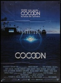 5j234 COCOON French 1p 1985 Ron Howard classic sci-fi, great artwork by John Alvin!