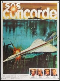 5j237 CONCORDE AFFAIR French 1p 1979 James Franciscus, Mimsy Farmer, different art, SOS Concorde!
