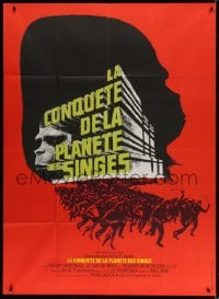 5j242 CONQUEST OF THE PLANET OF THE APES French 1p R1970s Roddy McDowall, the revolt of the apes!