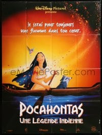5j705 POCAHONTAS French 1p 1995 Walt Disney, Native American Indians, great cartoon image!