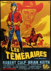 5j733 RAIDERS French 1p 1964 Robert Culp, Brian Keith, Judi Meredith, different Guy Gerard Noel art