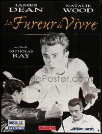 5j740 REBEL WITHOUT A CAUSE French 1p R1990s Nicholas Ray, different art of James Dean by Mascii!