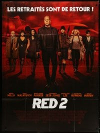 5j741 RED 2 French 1p 2013 Willis, John Malkovich, Mary-Louise Parker, Catherine-Zeta Jones!