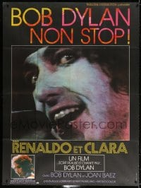 5j745 RENALDO & CLARA French 1p 1979 cool different super c/u of Bob Dylan singing into microphone!