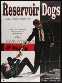 5j747 RESERVOIR DOGS French 1p 1992 Tarantino, different image of Harvey Keitel & Steve Buscemi!