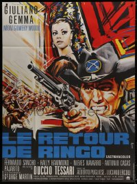 5j751 RETURN OF RINGO French 1p 1967 great spaghetti western art of Giuliano Gemma by Roje!