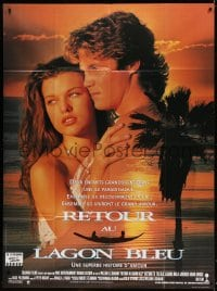 5j752 RETURN TO THE BLUE LAGOON French 1p 1991 sexy images of Milla Jovovich and Brian Krause!