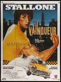 5j753 RHINESTONE French 1p 1987 different Sator art of New York City cab driver Sylvester Stallone!