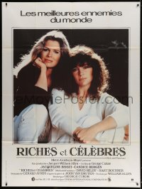 5j754 RICH & FAMOUS French 1p 1982 great portrait of Jacqueline Bisset & Candice Bergen!