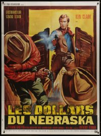 5j758 RINGO FROM NEBRASKA French 1p 1966 Ken Clark, cool spaghetti western art by Jean Mascii!!