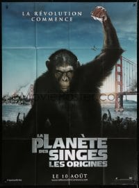 5j759 RISE OF THE PLANET OF THE APES teaser French 1p 2011 prequel to the 1968 sci-fi classic!
