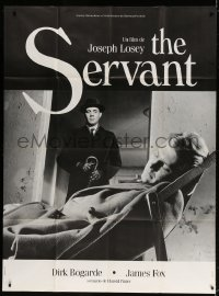 5j801 SERVANT French 1p R1990s Dirk Bogarde, written by Harold Pinter, directed by Joseph Losey!