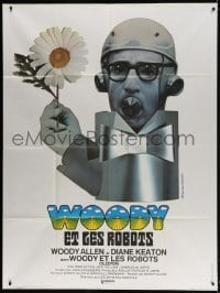 5j819 SLEEPER French 1p 1974 completely different wacky art of Woody Allen by Jouineau Bourduge!