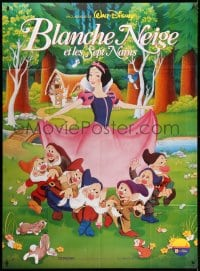 5j823 SNOW WHITE & THE SEVEN DWARFS French 1p R1992 Disney cartoon classic, great different art!