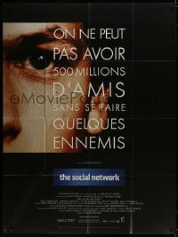 5j825 SOCIAL NETWORK French 1p 2010 David Fincher, Jesse Eisenberg in Facebook biography!