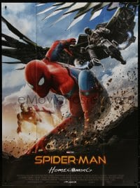 5j830 SPIDER-MAN: HOMECOMING French 1p 2017 Tom Holland in costume with Iron Man & Vulture!