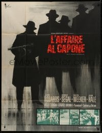 5j835 ST. VALENTINE'S DAY MASSACRE French 1p 1967 completely different gangster art by Grinsson!