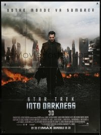 5j841 STAR TREK INTO DARKNESS French 1p 1913 cool image Benedict Cumberbatch & city in ruins!