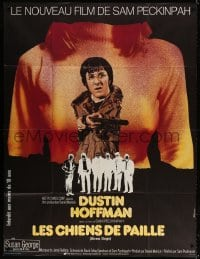 5j847 STRAW DOGS French 1p 1972 Peckinpah, different art of Hoffman & Susan George by Ferracci!