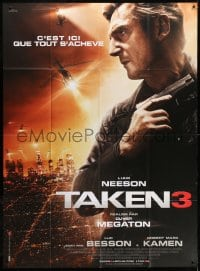5j859 TAKEN 3 French 1p 2015 huge close up of Liam Neeson with gun, it ends here!
