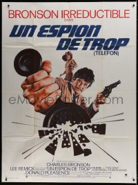 5j864 TELEFON French 1p 1978 great artwork, they'll do anything to stop Charles Bronson!
