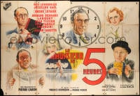 5j008 LE MONSIEUR DE 5 HEURES French 2p 1938 great art montage of the top cast, ultra rare!
