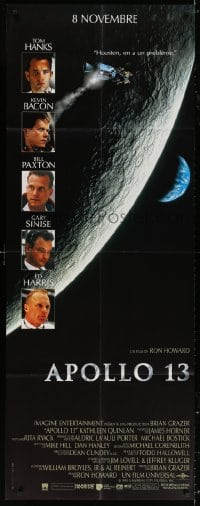 5j022 APOLLO 13 French door panel 1995 Tom Hanks, Kevin Bacon & Bill Paxton, directed by Ron Howard