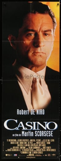 5j024 CASINO French door panel 1996 portrait of Robert De Niro, directed by Martin Scorsese!