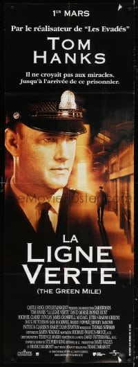 5j026 GREEN MILE French door panel 2000 c/u of prison guard Tom Hanks, Stephen King fantasy!