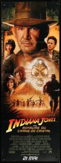 5j027 INDIANA JONES & THE KINGDOM OF THE CRYSTAL SKULL French door panel 2008 Spielberg, Drew art!
