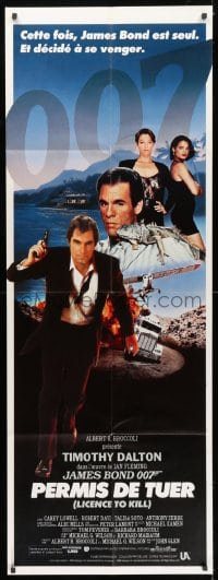 5j028 LICENCE TO KILL French door panel 1989 Timothy Dalton as James Bond, he's out for revenge!