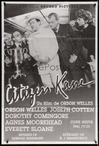 5j012 CITIZEN KANE French 33x48 R1990 Orson Welles' masterpiece, Joseph Cotten, Everett Sloane!