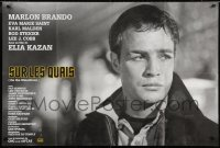 5j018 ON THE WATERFRONT French 32x47 R1990s Elia Kazan, classic close up of Marlon Brando!