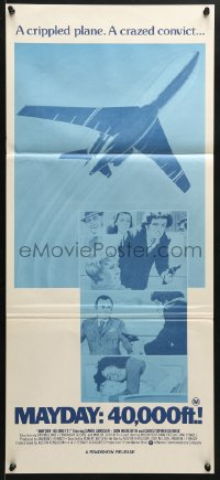 5k740 MAYDAY: 40,000 FT! Aust daybill 1976 David Janssen, Don Meredith, airplane disaster!