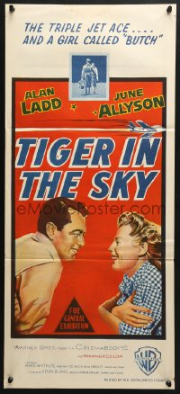 5k741 McCONNELL STORY Aust daybill 1955 Alan Ladd is America's first triple jet ace, June Allyson!