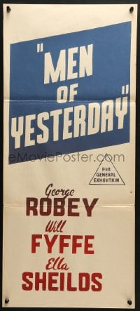 5k742 MEN OF YESTERDAY Aust daybill 1936 George Robey, Will Fyffe, and Ella Shields!