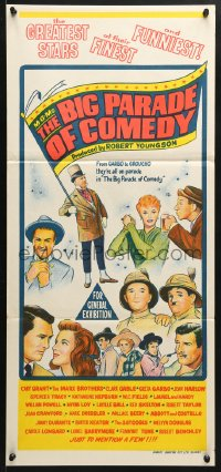 5k745 MGM'S BIG PARADE OF COMEDY Aust daybill 1964 W.C. Fields, Marx Bros., Abbott & Costello!