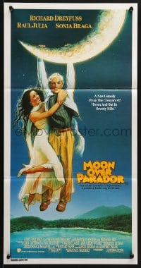 5k755 MOON OVER PARADOR Aust daybill 1988 Sonia Braga hangs onto Richard Dreyfuss, Struzan art!