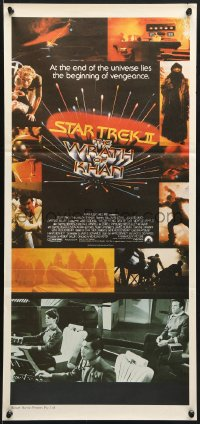5k893 STAR TREK II Aust daybill 1982 The Wrath of Khan, Leonard Nimoy, William Shatner