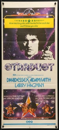 5k894 STARDUST Aust daybill 1974 Michael Apted directed, they made David Essex a rock & roll god!