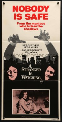 5k900 STRANGER IS WATCHING Aust daybill 1982 Kate Mulgrew & Rip Torn, New York serial killer horror